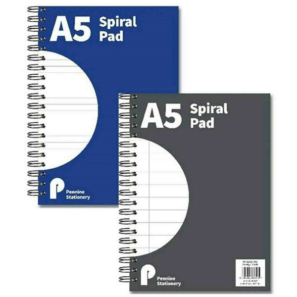 A5 Metalic Spiral Bound Notepad Writing