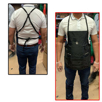 Canvas Apron Large Pocket Black With Tool Pockets