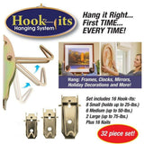 32 Hooks Wall Hanging System