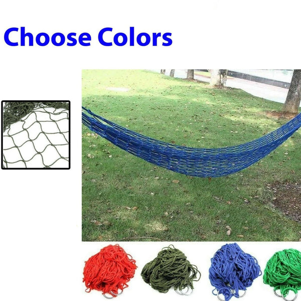 Portable Garden Hammock Mesh Net Hang Rope Swing Bed