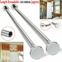 125-220cm Extendable Telescopic Shower Curtain Rail
