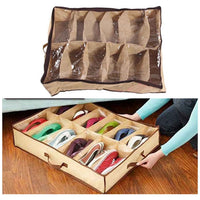 12 Pairs Shoe Storage Box Tray Under Bed