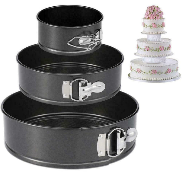 Set of 3 Round Cake Non Stick Baking Pan