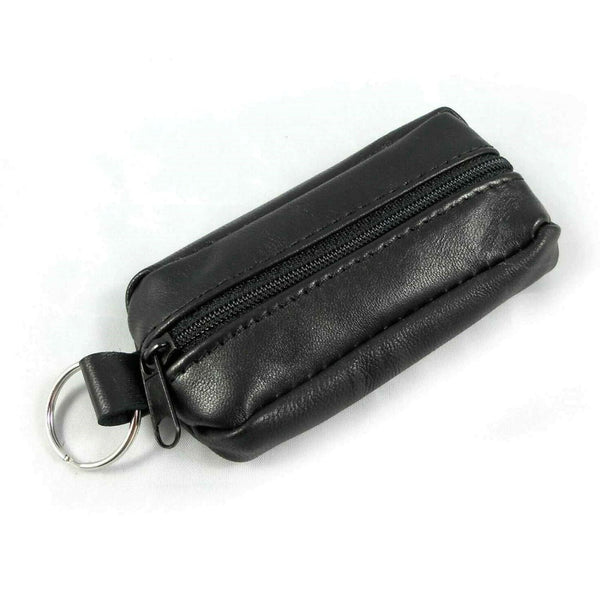 Unisex Leather Zipper Soft Wallet Coin Pouch