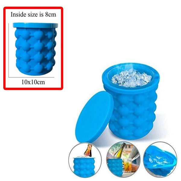 Ice Cube Maker Genie Space Saving Silicone Tray