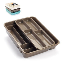 Strong Plastic 2 Tier Cutlery Tidy Tray Organiser