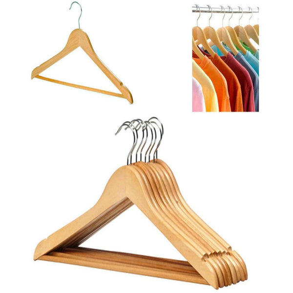 20 x Wooden Hangers Cloth Coat Suit