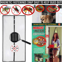 Magic Door Mesh Magnetic Curtain