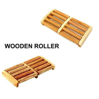Wooden Foot Feet Roller Care Massage Relief Spa