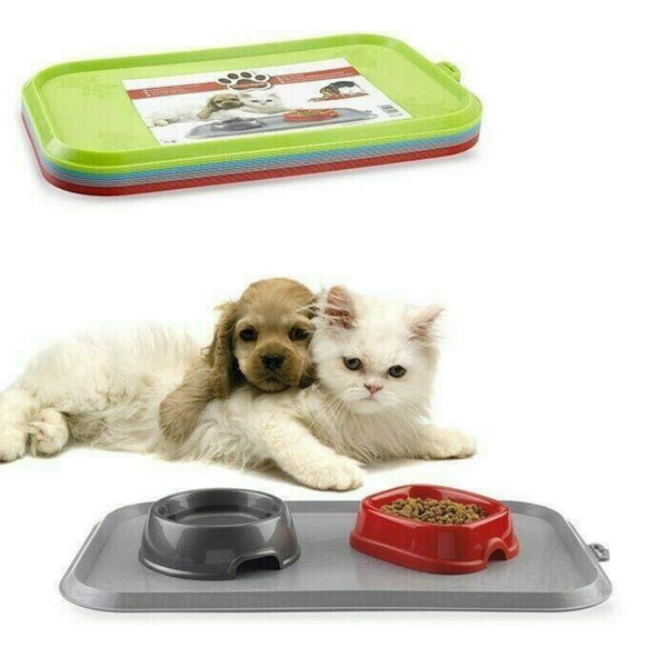 Plastic Pet Rubber Feeding Tray