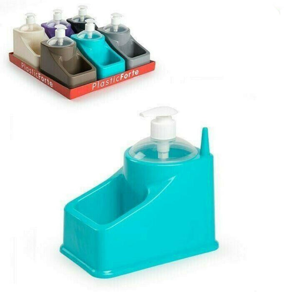 Plastic Sponge Holder Sink Tidy & Built-In Soap Dispenser