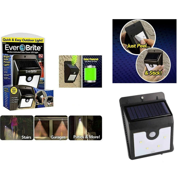Ever Brite LED Light Solar Powered Motion Sensor