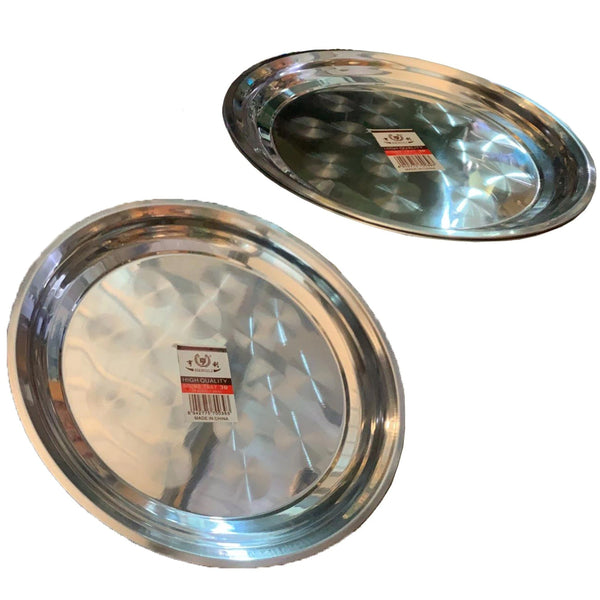 Stainless Steel Round Dinner Plate 30cm
