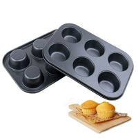 6 / 12 Cup Non Stick Muffin Cupcake Baking Oven Trays Tins