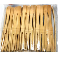 100 x Bamboo Cocktail Forks Skewers