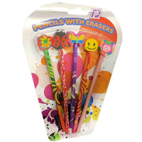 Set of 5 Novelty Animal Pencils With Eraser