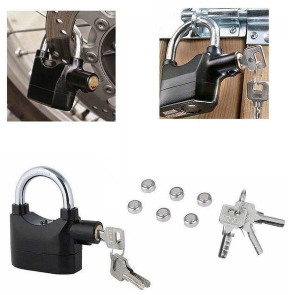 Anti Theft Alarm Lock Padlock Loud Siren 110DBA