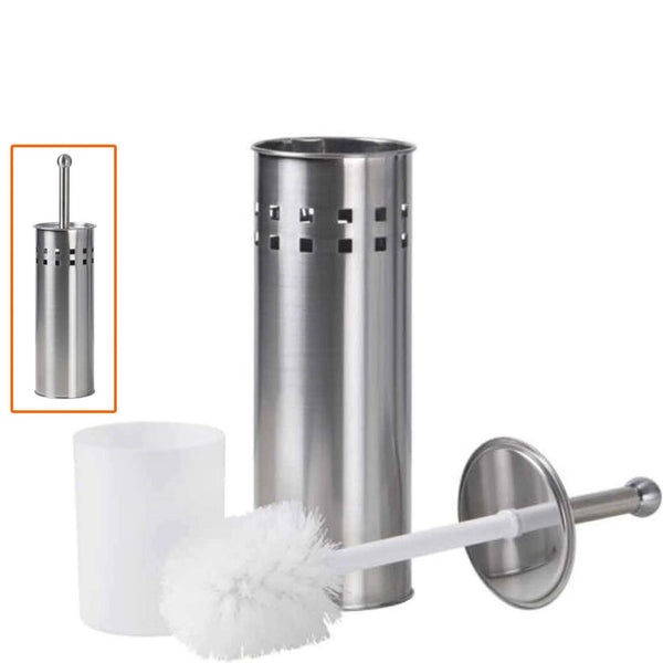 Stainless Steel Bathroom Cleaning Brush With Holder