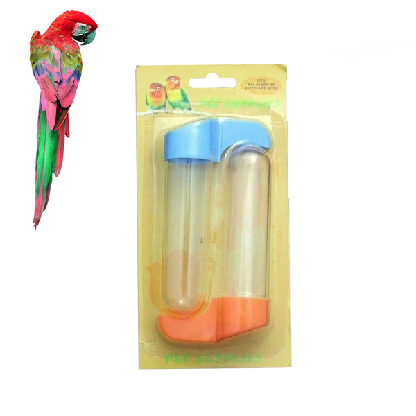 Tube Hanging Bird Feeder Water Food Bottle