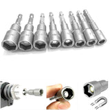 "8pc 1/4"" Hex Magnetic Drill Bits Set 6 to 13mm"