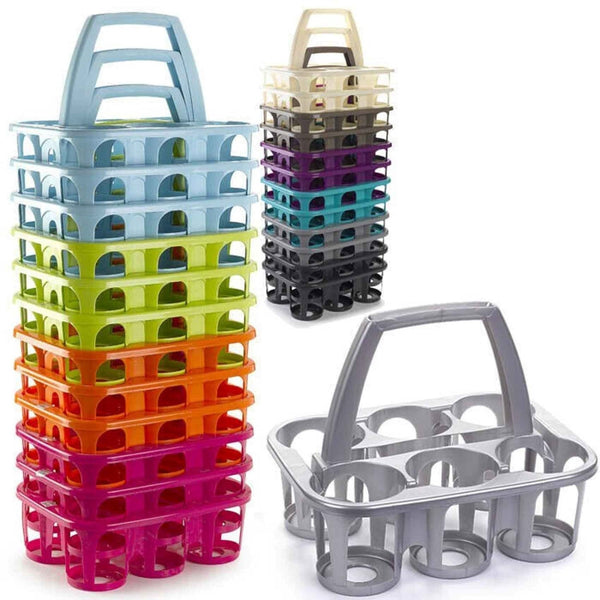 6 Plastic Milk/Beer Bottle Holder Carrier