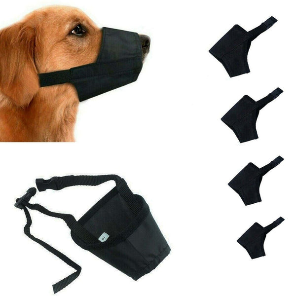Adjustable Dog Safety Muzzle Biting Barking
