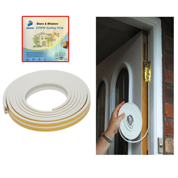 Strip Draught Seal 2.5mtr 9.6mm Fit all Windows and Doors x 2 Lengths