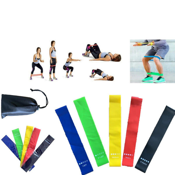 Resistance Stretch Elastic Rubber Rope Strap Exercise