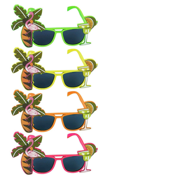 Hawaiian Flamingo Glasses Tropical Fancy