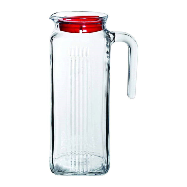 1L Square Glass Water Jug With Lid