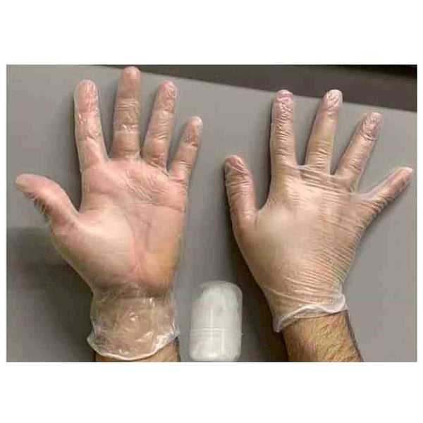 Disposable Vinyl Gloves Latex Free Food Safe with Travel Case
