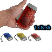 3 LED Hand Press Flashlight Torch Light