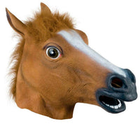 Rubber Horse Head Mask Panto Cosplay Halloween Adult Costume Party Fancy Dress