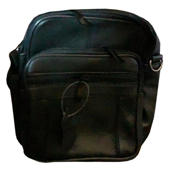 Black Unisex Real Leather Bag Handbag Wallet