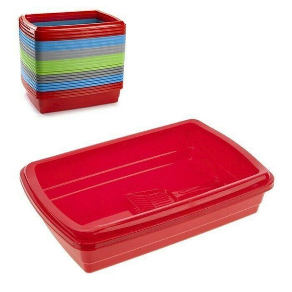 Cat Plastic Litter Tray Set with Scoop