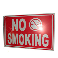 A4 No Smoking Sign Sticker Non Sticky Card