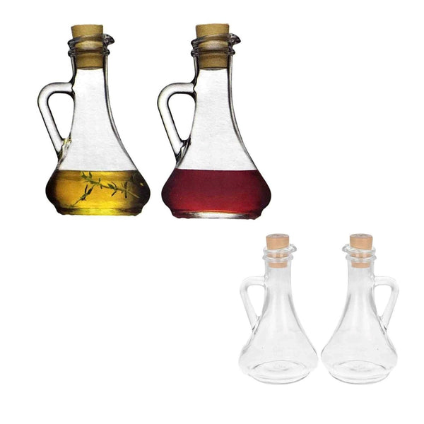Transparent Olive Oil and Vinegar Bottles