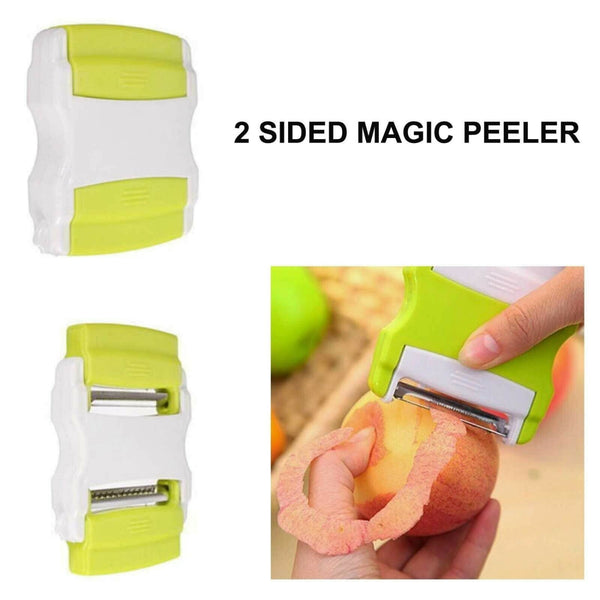 2 Sided Magic Vegetable Fruit Slicer Spiral Peeler