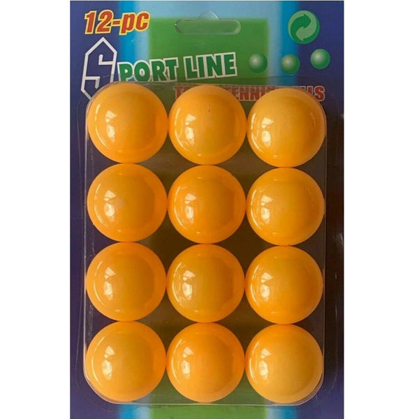 Orange Table Tennis Balls Ping Pong (Pack of 12)