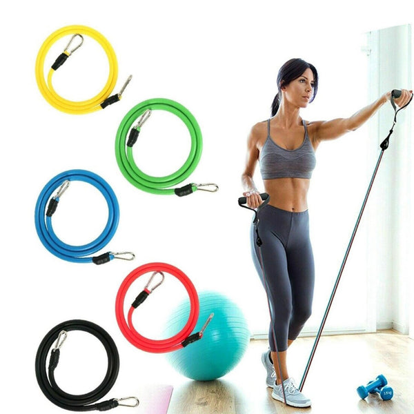 11Pcs Set Resistance Bands Yoga Exercise