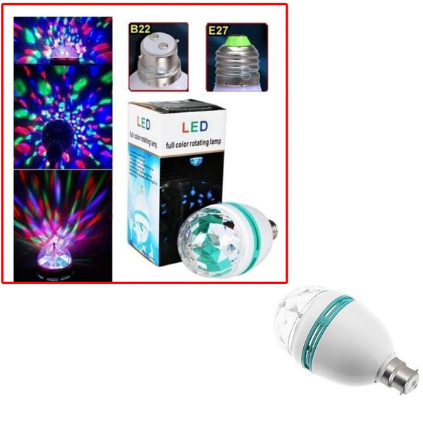 3W Colorful Rotating Stage RGB LED Light Bulb