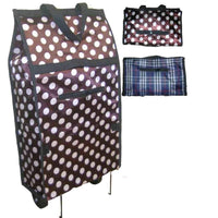 2Pc Folding Shopping Trolley Bag With Wheels