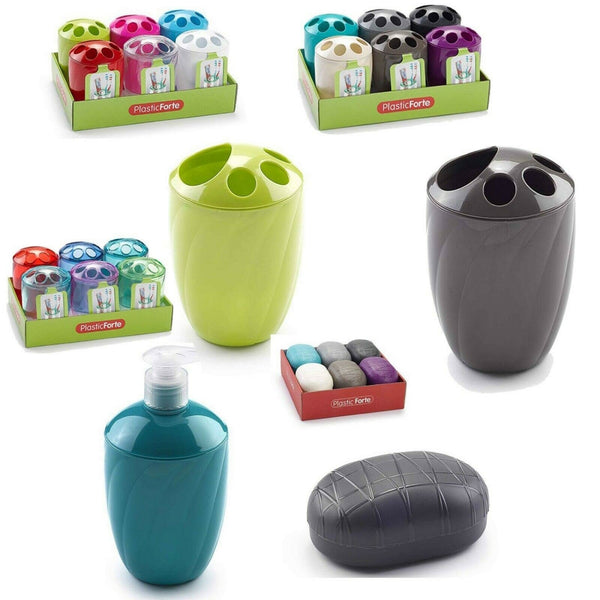 Plastic Soap Dispenser Toothbrush Holder Toothpaste Stand