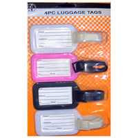 4Pcs Plastic Luggage Tags Labels