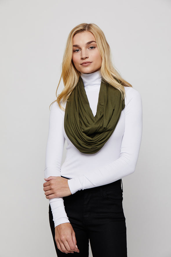 Army Green Sleeper Scarf deflated