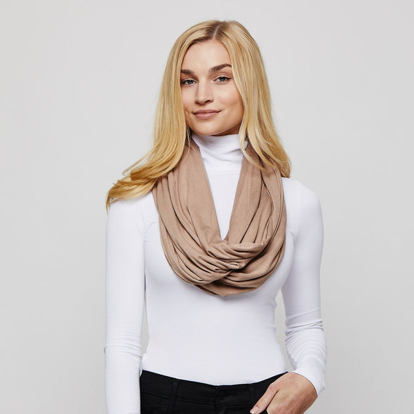 Taupe Sleeper Scarf deflated