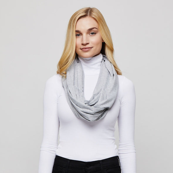 Heather Grey Sleeper Scarf deflated