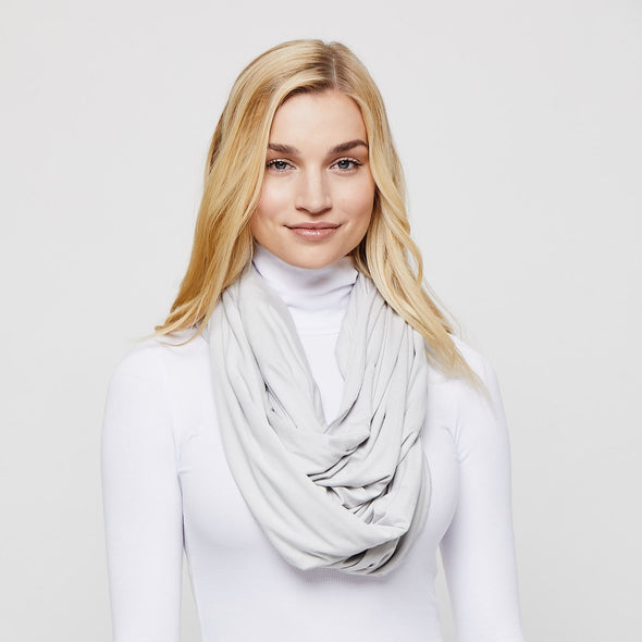 Light Grey Sleeper Scarf deflated