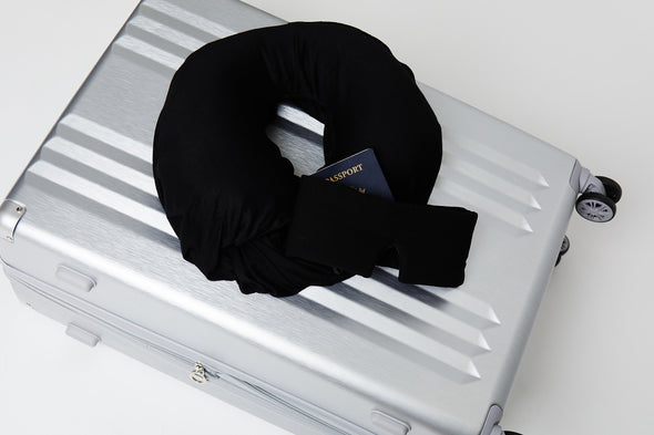Sleeper Scarf on luggage