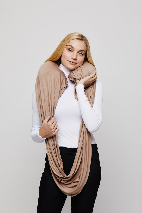 Taupe Sleeper Scarf inflated